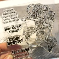 Moonlight Whispers - The Mermaid Sailor - Clear Stamp