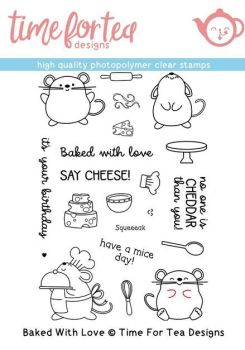 **NEW** Time For Tea - Baked With Love Clear Stamp Set