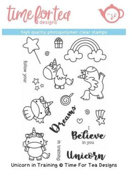 **NEW** Time For Tea - Unicorn in Training Clear Stamp Set