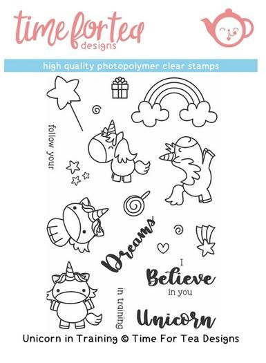 ***NEW*** Time For Tea - Unicorn in Training Clear Stamp Set