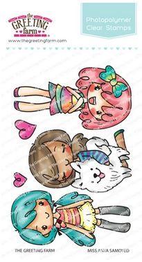 The Greeting Farm - Miss Anya Samoyed clear stamp set