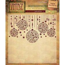 "Vintage decorations - 6"" x 6"" embossing folder"