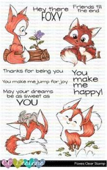 ***NEW*** C.C. Designs - Foxes Clear Stamps