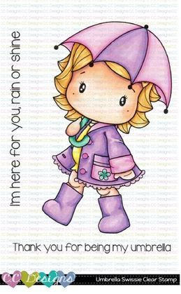 ***NEW*** C.C. Designs - Umbrella Swissie Clear Stamp Set