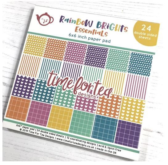 Time for Tea - Rainbow Brights Essentials Paper Pad 6x6