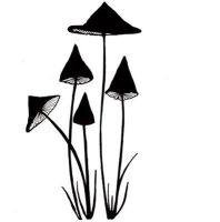 Lavinia Stamps - Slender Mushrooms Miniature