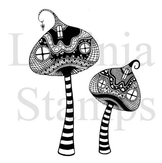 Lavinia Stamps - Zen Tall Mushrooms