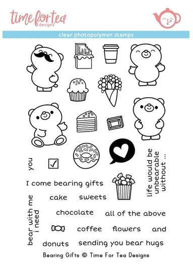***NEW*** Time For Tea - Bearing Gifts Clear stamp set