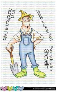 C.C. Designs - Farmer Fred clear stamp