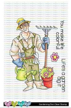 C.C. Designs - Gardening Don clear stamp
