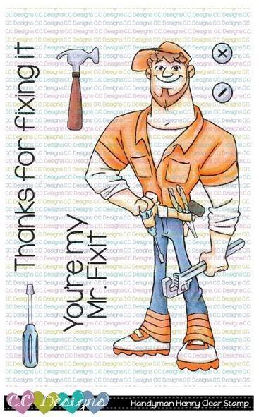C.C. Designs - Handyman Henry clear stamp