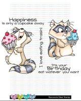 C.C. Designs - Raccoons clear stamp