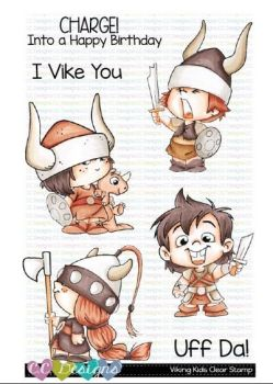 C.C. Designs - Viking kids Clear Stamps