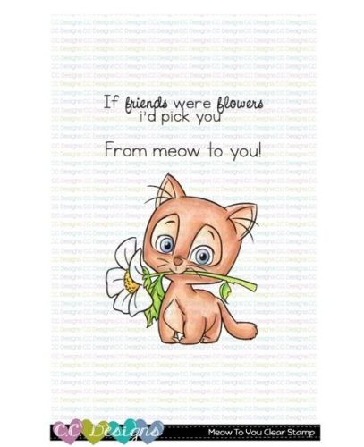 C.C. Designs - Meow to you clear stamp