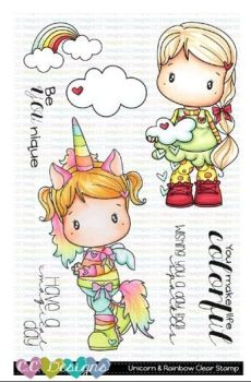 C.C. Designs - Unicorn & Rainbow Clear Stamp Set
