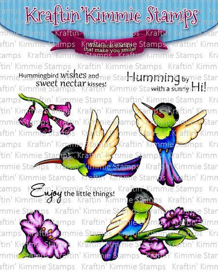**NEW** Kraftin' Kimmie - Happy Hummingbirds! clear stamp set