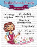 Kraftin' Kimmie - Let's Get Krafty! clear stamp set
