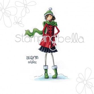 Stamping Bella - uptown girl QUINN and her BOOTS (including sentiment)