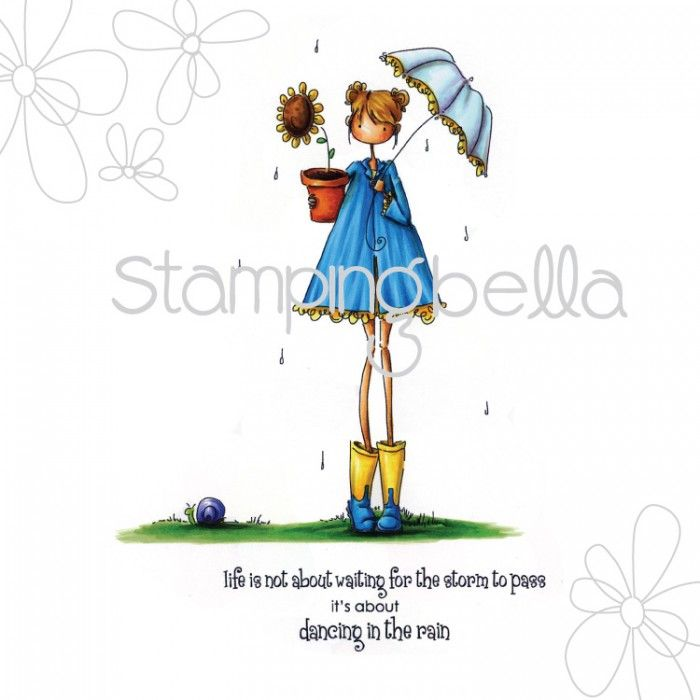 Stamping Bella - uptown girl LOLLY and her BROLLY (includes sentiment)