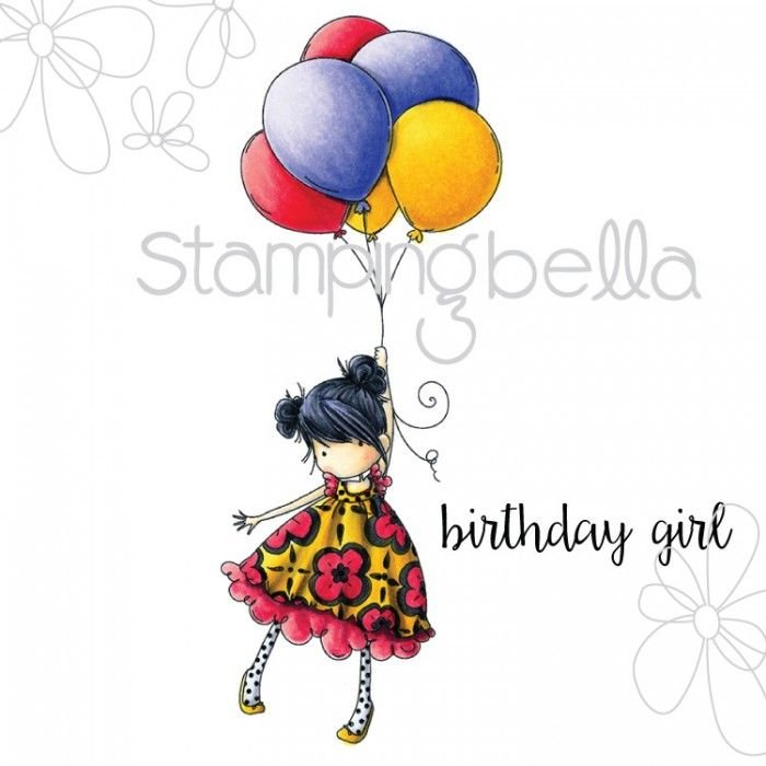 Stamping Bella - Tiny Townie BLOSSOM loves BALLOONS (includes sentiment sho