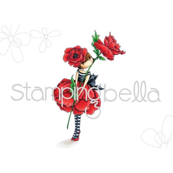 Stamping Bella - tiny townie Garden Girl POPPY (includes 1 stamp)