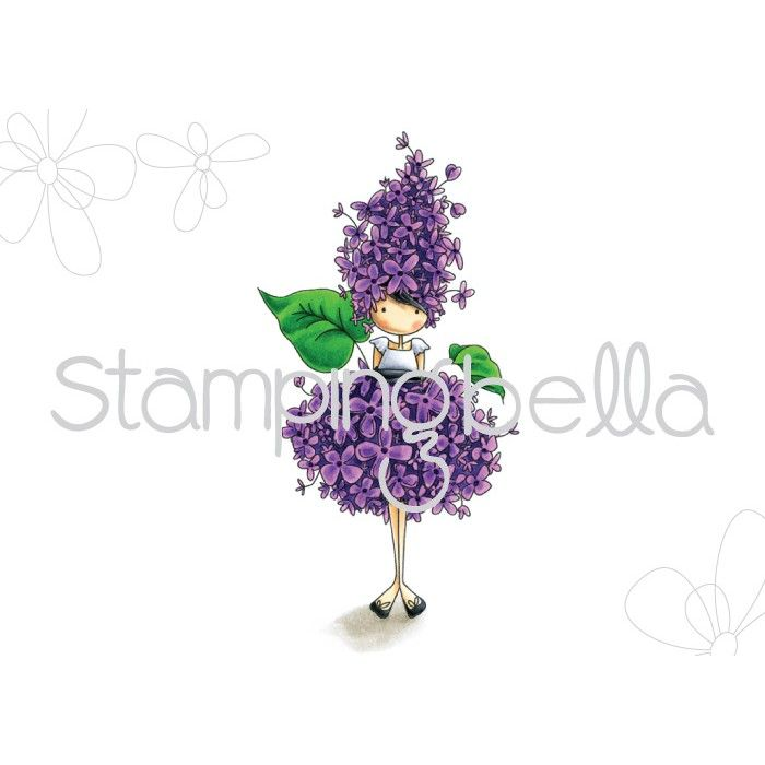 Stamping Bella - tiny townie GARDEN GIRL LILAC (includes 1 stamp)