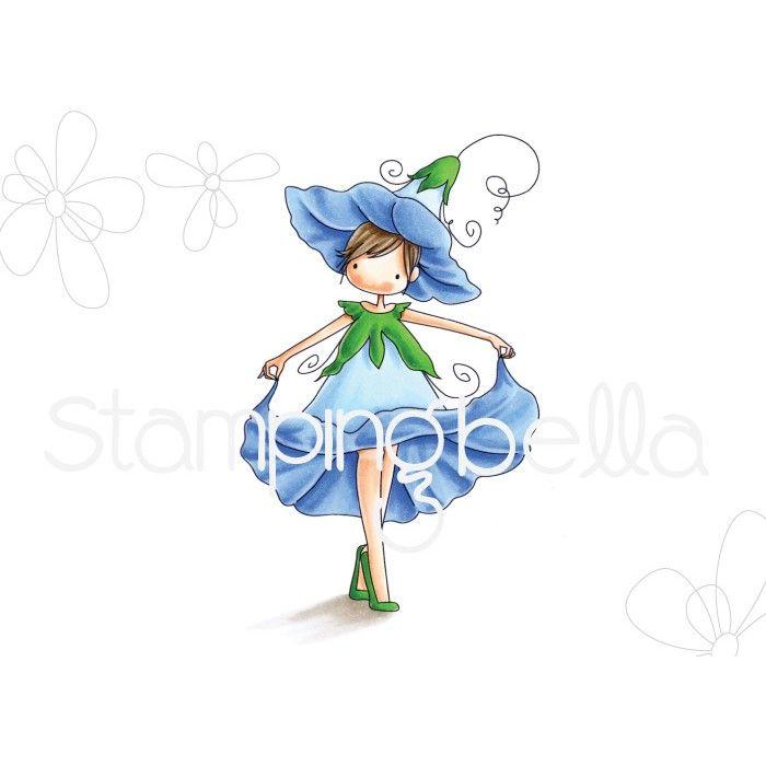 Stamping Bella - TINY TOWNIE GARDEN GIRL MORNING GLORY (SEPTEMBER'S BIRTH F