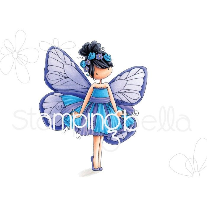 Stamping Bella - tiny townie butterfly girl BLANCHE