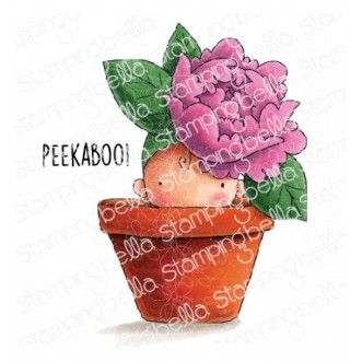 Stamping Bella - PEONY BABY IN A POT