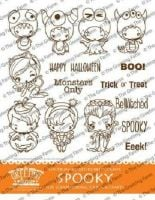 Spooky Kit red rubber stamp set - The Greeting Farm