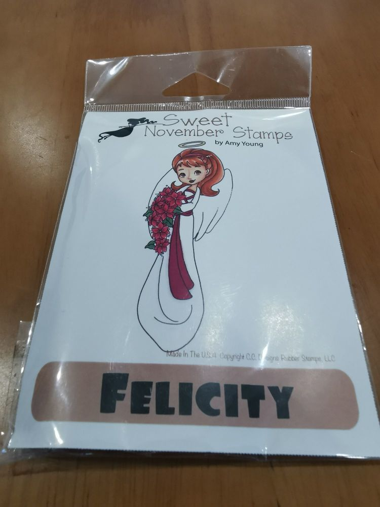 Felicity - Red rubber stamp