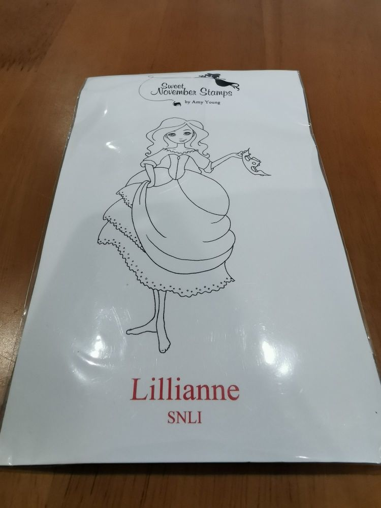 Lillianne - Red rubber stamp