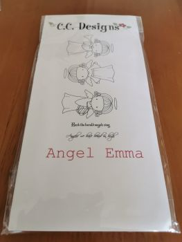 C.C. Designs - Angel Emma red rubber Stamp Set