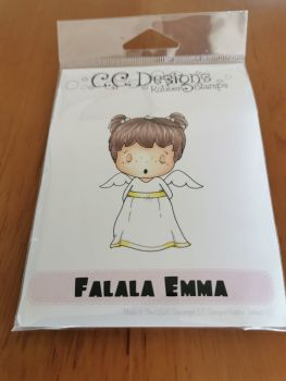C.C. Designs - Falalal Emma red rubber Stamp