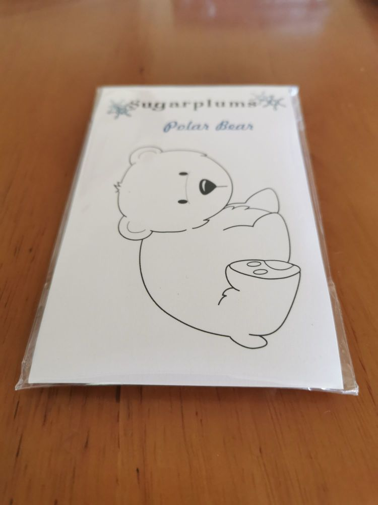 C.C. Designs - Polar bear red Stamp Set