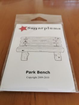 C.C. Designs - Park bench red rubber Stamp Set
