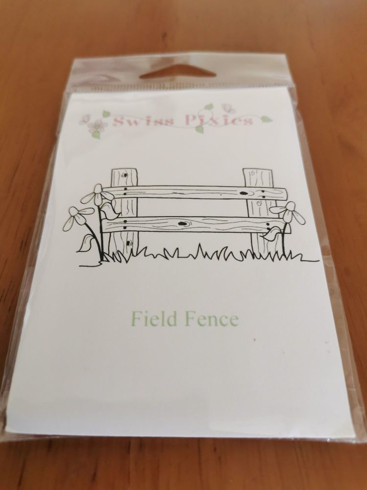 C.C. Designs - Field Fence red rubber Stamp Set