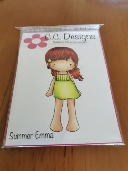 C.C. Designs - Summer Emma red rubber Stamp