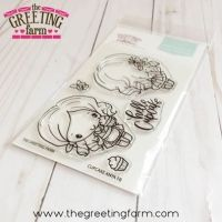 Cupcake Anya FB (front and back) clear stamp set - The Greeting Farm