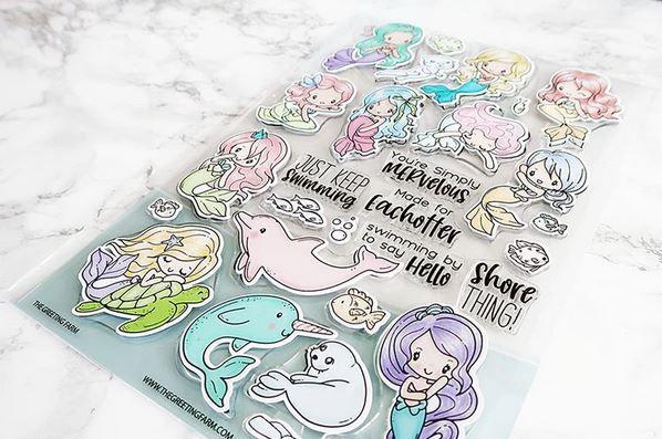 The Greeting Farm - Mermaids Galore Kit clear stamp set