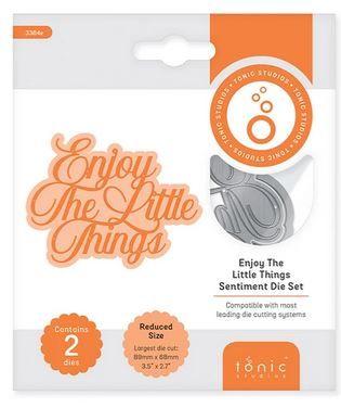 Enjoy the little things - Sentiment die set