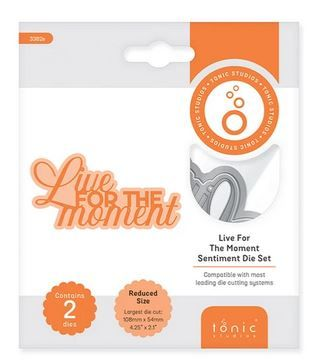 Live for the moment - Sentiment die set
