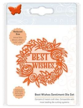 Best wishes - Sentiment die set