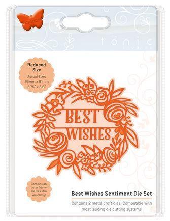 Best wishes - Sentiment die set