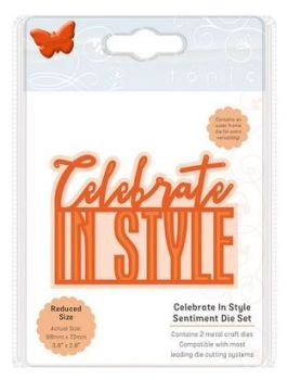 Celebrate in style - Sentiment die set