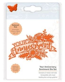 Your Anniversary - Sentiment die set