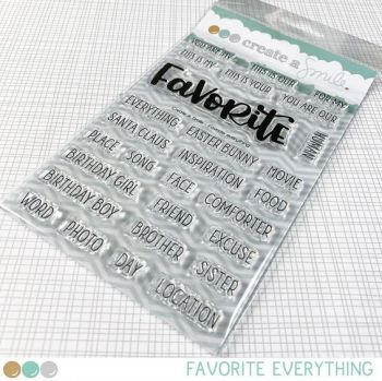 **NEW** Create a smile - Favorite Everything clear stamp