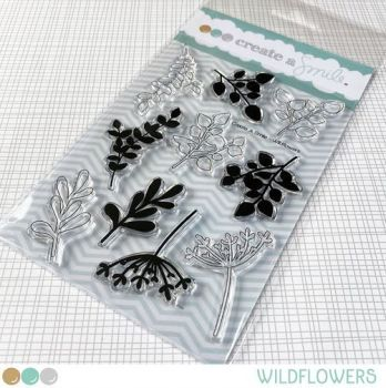 **NEW** Create a smile - Wildflowers clear stamp