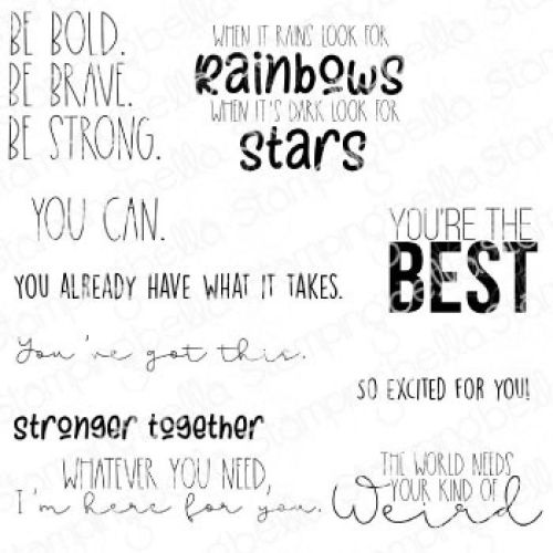 ***NEW*** Stamping Bella - ENCOURAGEMENT SENTIMENT SET (10 RUBBER STAMPS)