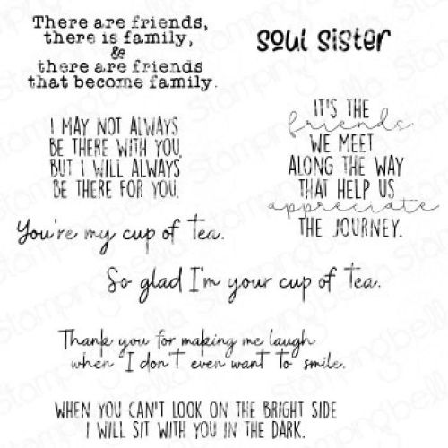 ***NEW*** Stamping Bella - FRIENDSHIP SENTIMENT SET (10 RUBBER STAMPS)